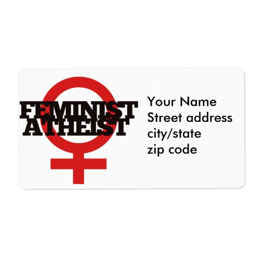 Feminist Atheist Shipping Label