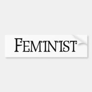 Feminist Car Bumper Sticker
