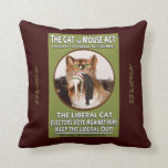 Feminist Cat and Mouse Suffragette Cushion Throw Pillows