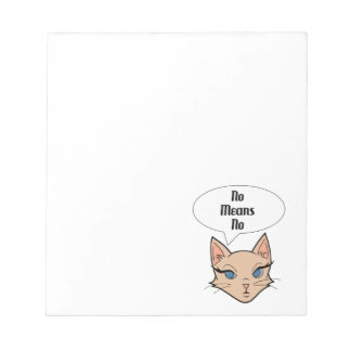 Feminist Cat Cartoon Illustration Notepad