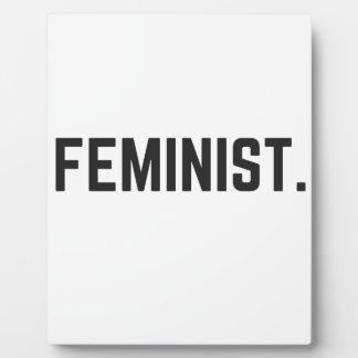 Feminist Design Illustration Text Collection Plaque