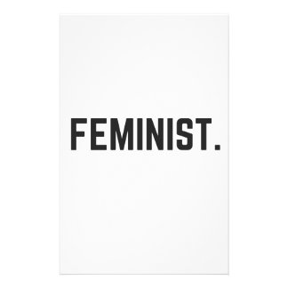 Feminist Design Illustration Text Collection Stationery