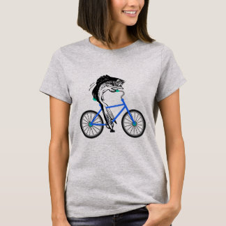 Feminist Fish Riding a Bicycle (without quote) T-Shirt