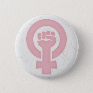 Feminist Fist Button