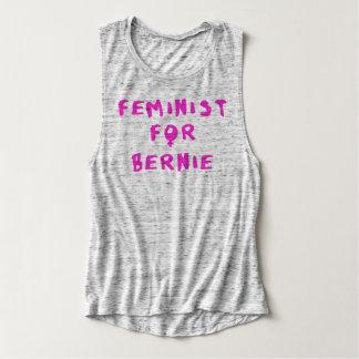 Feminist For Bernie Sanders 2016 Flowy Muscle Tank Top