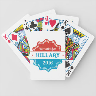 Feminist for Hillary 2016 Bicycle Playing Cards
