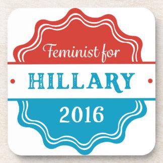 Feminist for Hillary 2016 Coasters