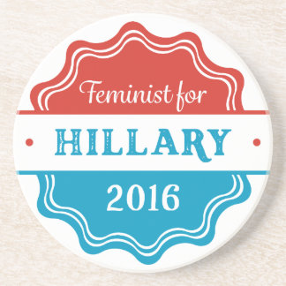 Feminist for Hillary 2016 Drink Coasters
