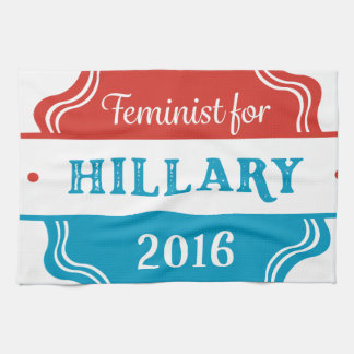 Feminist for Hillary 2016 Hand Towels