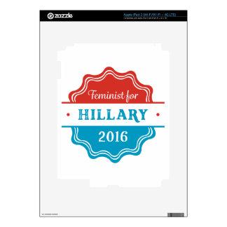 Feminist for Hillary 2016 iPad 3 Skin