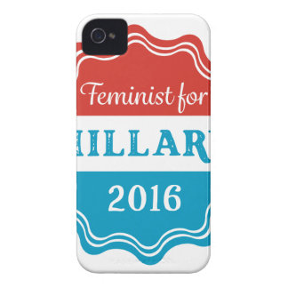 Feminist for Hillary 2016 iPhone 4 Covers