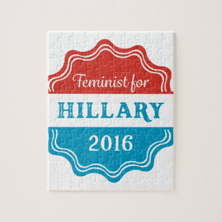Feminist for Hillary 2016 Jigsaw Puzzles