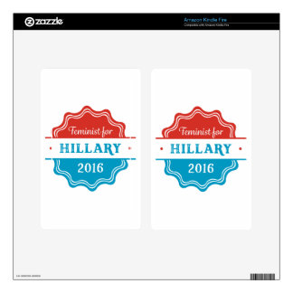 Feminist for Hillary 2016 Kindle Fire Decal