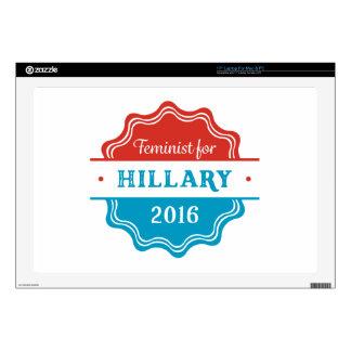 Feminist for Hillary 2016 Laptop Skins