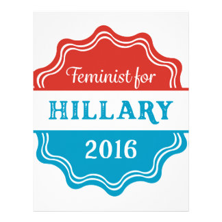 Feminist for Hillary 2016 Letterhead