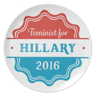 Feminist for Hillary 2016 Party Plates