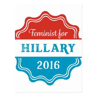 Feminist for Hillary 2016 Postcard