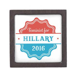 Feminist for Hillary 2016 Premium Jewelry Box