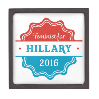 Feminist for Hillary 2016 Premium Trinket Box