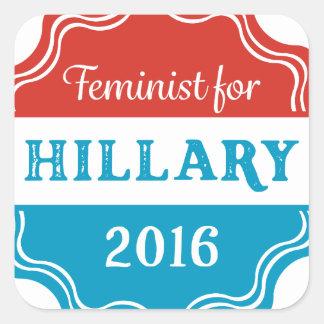 Feminist for Hillary 2016 Square Sticker