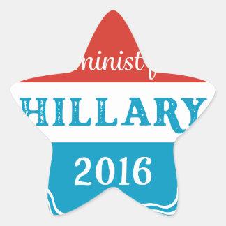 Feminist for Hillary 2016 Star Sticker