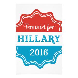 Feminist for Hillary 2016 Stationery
