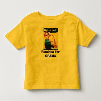 Feminist for OBAMA Tee Shirt