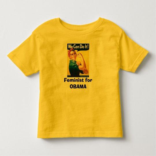 Feminist for OBAMA Toddler T-shirt