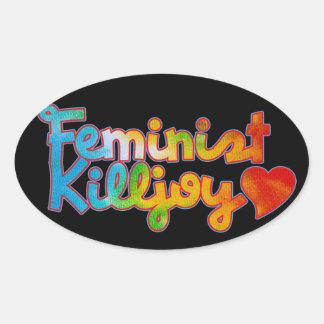 Feminist Killjoy Oval Sticker