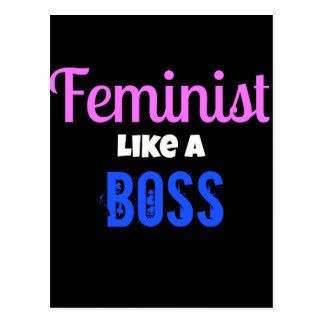 Feminist Like A  Boss Postcard
