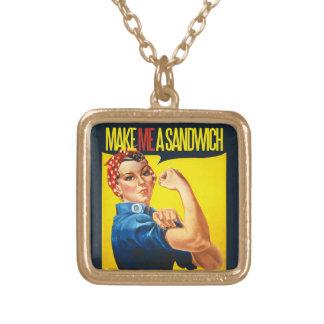 Feminist Make me a Sandwich Jewelry