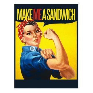 Feminist Make me a Sandwich Postcard