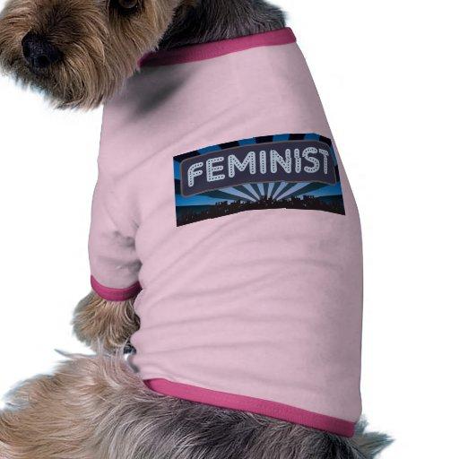 Feminist Marquee Dog Tshirt