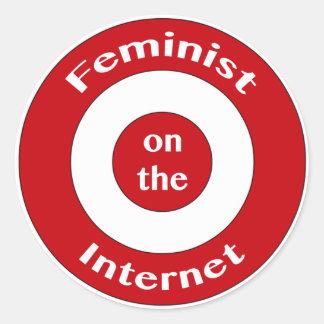 Feminist on the Internet (target) Classic Round Sticker