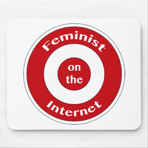Feminist on the Internet (target) Mouse Pad