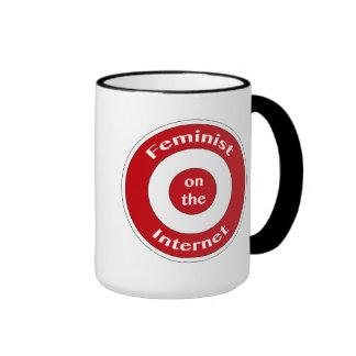 Feminist on the Internet (target) Ringer Mug