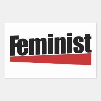 Feminist Rectangular Sticker