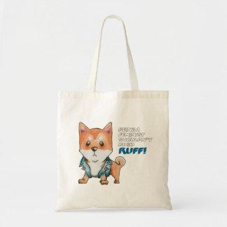 Feminist Shiba Inu Dog Watercolor Painting Tote Bag