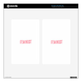 FEMINIST shirts, accessories, gifts Skin For Kindle Fire