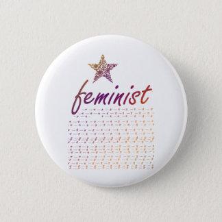 Feminist Star Pinback Button