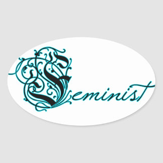 Feminist Oval Stickers