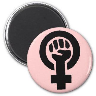 Feminist Symbol 2 Inch Round Magnet
