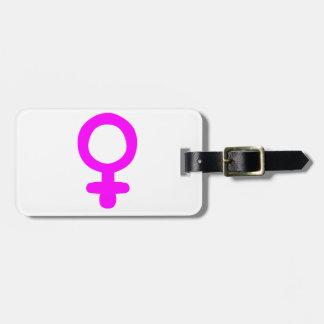 Feminist Symbol Bag Tag