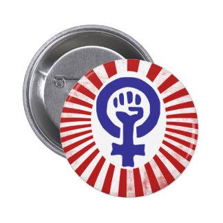 Feminist Symbol Button
