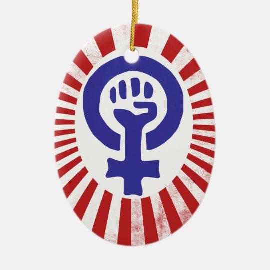Feminist Symbol Ceramic Ornament