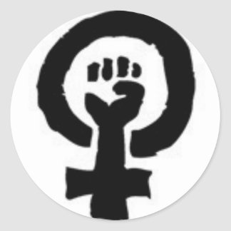 Feminist Symbol Classic Round Sticker