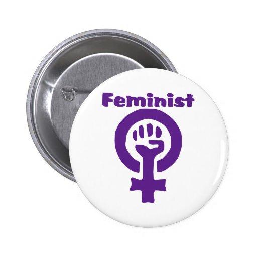 Feminist Symbol in Purple 2 Inch Round Button