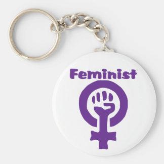 Feminist Symbol in Purple Keychain