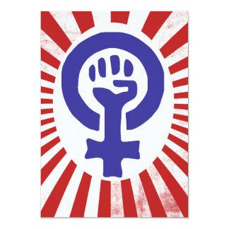 Feminist Symbol 5x7 Paper Invitation Card