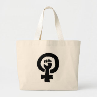 Feminist Symbol Large Tote Bag
